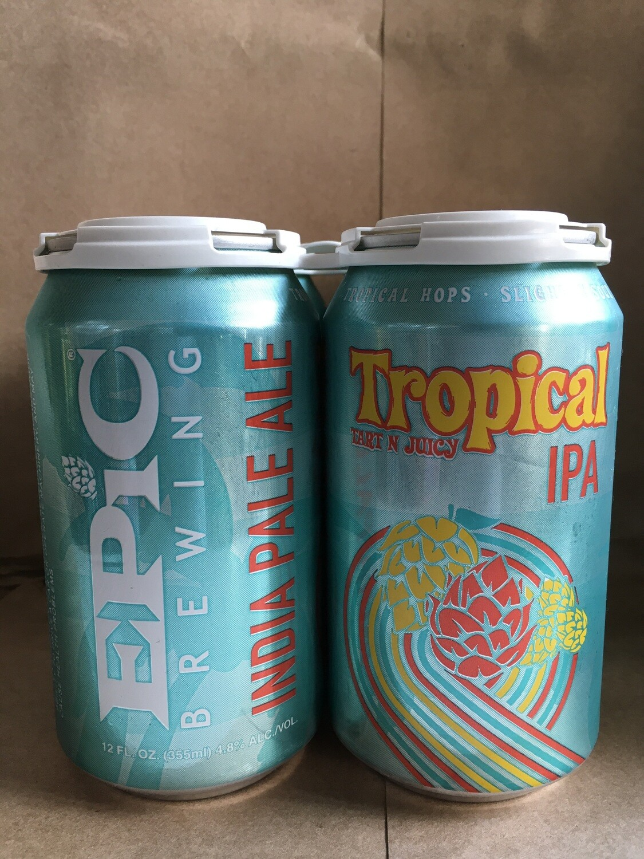 Beer / 12 oz / Epic, Tropical Tart 'N Juicy, Sour IPA,  4 pk