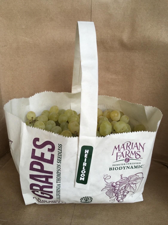 Produce / Fruit / Organic Green Grapes, 2.25 lb bag