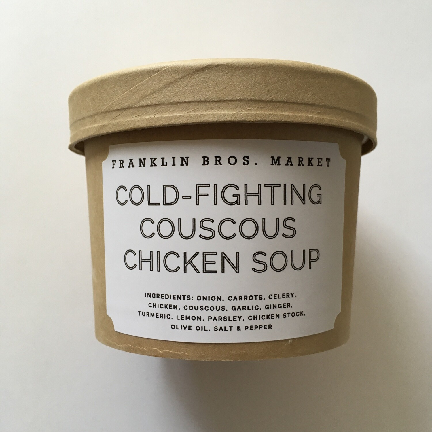 Frozen / Entree / Franklin Bros. Market Cold-Fighting Couscous Chicken Soup, 12 oz