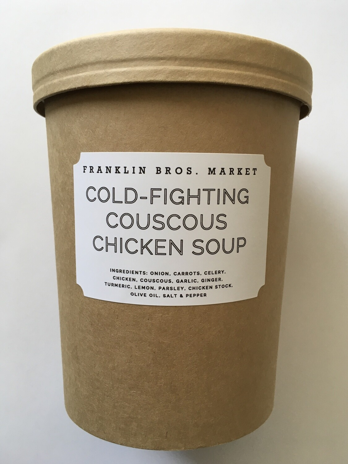 Frozen / Entree / Franklin Bros. Market Cold-Fighting Couscous Chicken Soup, 32 oz