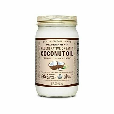 Grocery / Oil / Dr Bronner's unrefined Coconut oil, 14 oz.