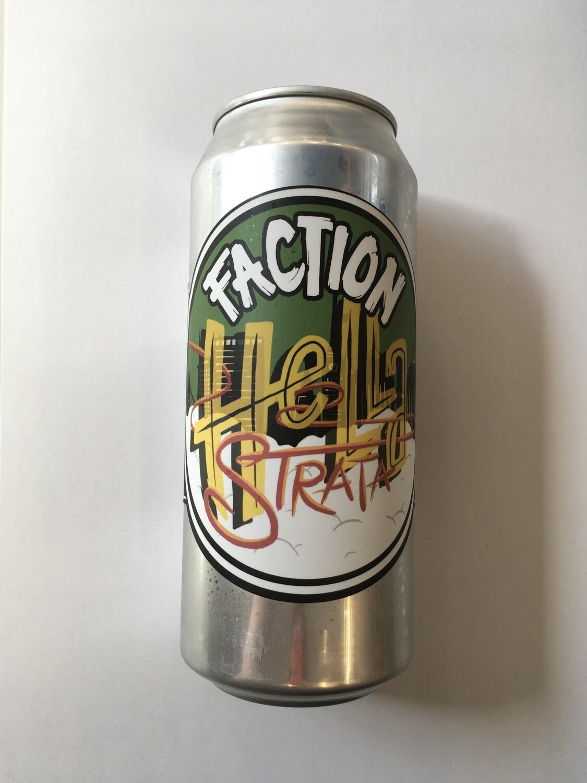 Beer / 16 oz / Faction, Hella Strata, Lager 16 oz
