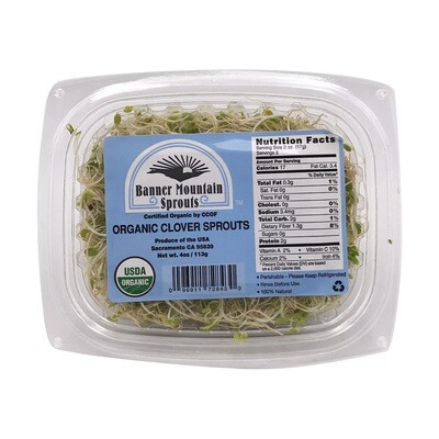 Produce / Vegetable / Organic Clover Sprout, 4 oz