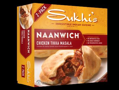 Frozen / Entree / Sukhi's Tikka Masala Naanwich, 10.4 oz
