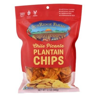 Bulk / Snack / Crispy Chile Picante Plantain Chips, 12 oz