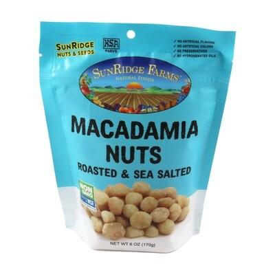 Bulk / Nuts / Dry Roasted & Salted Macadamias, 6 oz