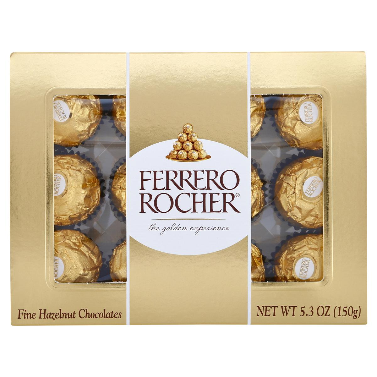 Candy / Chocolate / Ferrero Rocher, 12 piece box 5.3 oz