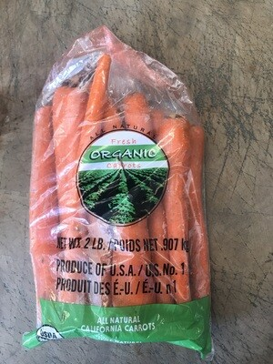 Produce / Vegetable / Organic Carrots, 2 lb bag
