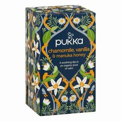 Grocery / Tea / Pukka Chamomile, Vanilla, Manuka Honey, 20 bags