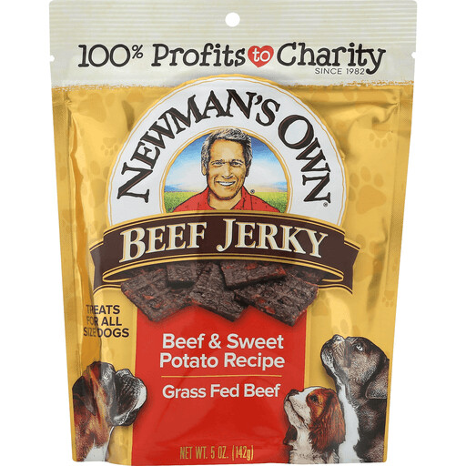 Household / Pet / Newman's Own Dog Treats Sweet Potato Beef Jerky, 5 oz.