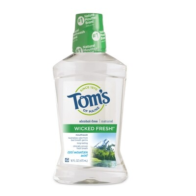 Health and Beauty / Toothpaste / Tom's of Maine Mountain Mint Mouthwash, 16 oz.