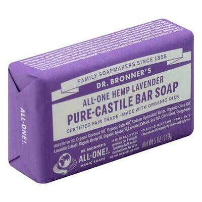 Health and Beauty / Soap / Dr. Bronner Bar Lavender