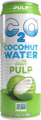 Beverage / Coconut Water / C2O Pure Coconut Water With Pulp, 17.5 oz.