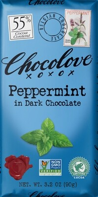 Candy / Chocolate / Chocolove Dark Chocolate Peppermint, 3.2 oz