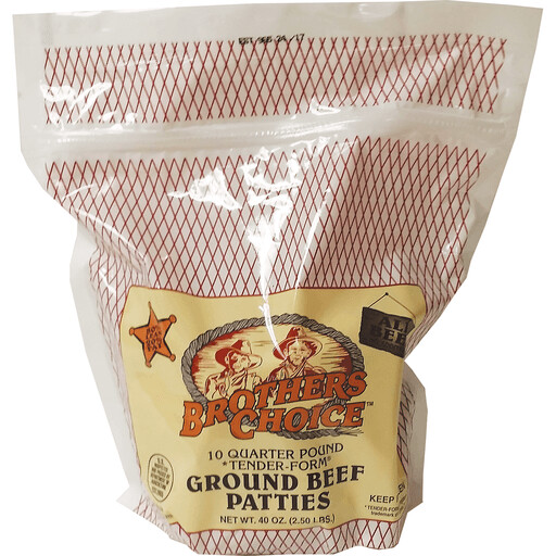 Frozen / Meat / Brother's Choice Ground Beef Patties, 10 ct