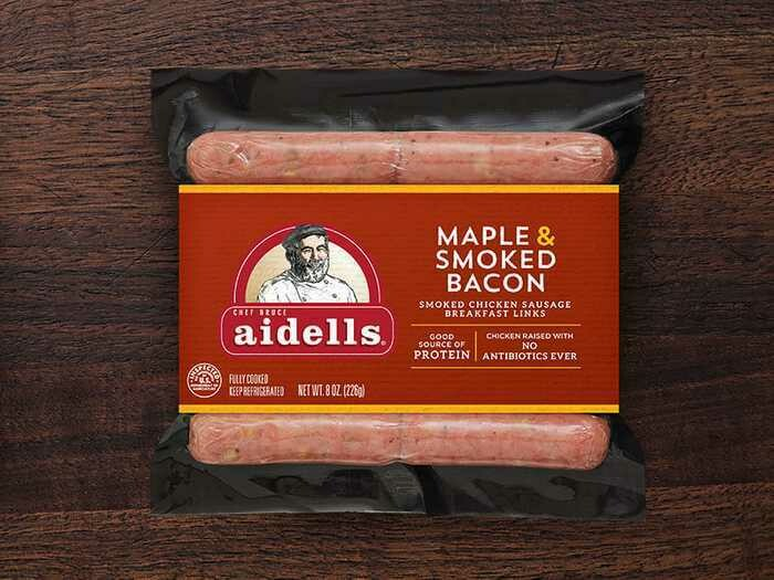 Deli / Meat / Aidell's Sausage, Maple Bacon Breakfast Link, 8 oz