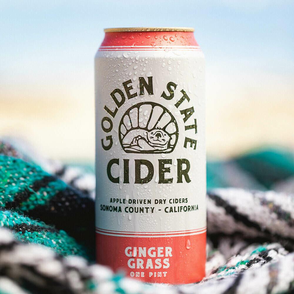 Beer / 16 oz / Golden State Cider Gingergrass, 16 oz