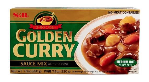 Grocery / International / S&B Golden Curry Mix, Medium Hot, 7.8 oz.