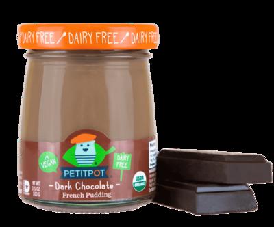 Dairy / Milk Substitute / Petit Pot Dark Chocolate Organic Plant Based French Pudding, 3.5 oz