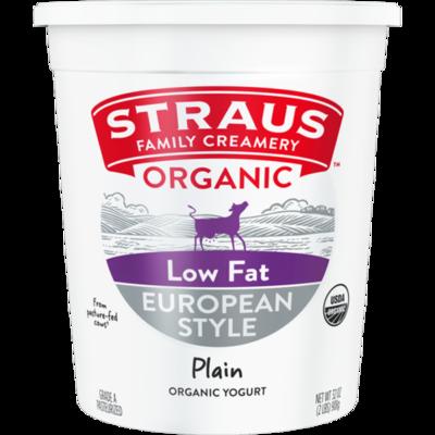 Dairy / Yogurt / Straus Organic Plain Low-fat 1% Yogurt, 32 oz.