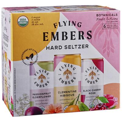 Beer / 6 pack / Flying Embers Fruit & Flora Hard Seltzer, 12 oz