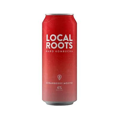Beer / 16 oz / Local Roots Strawberry Mojito, Hard Kombucha  16 oz
