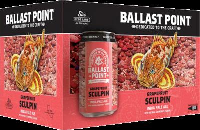 Beer / 6 pack  / Ballast Point Grapefruit Sculpin, 12oz.