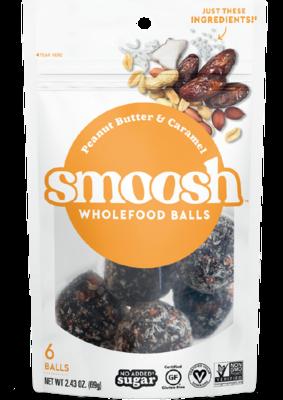 Snack / Bar / Smoosh Peanut Butter Caramel Wholefood Balls, 2.43 oz