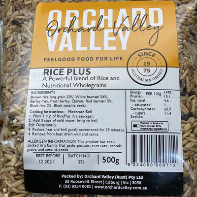 RICE PLUS - ONLINE SPECIAL
