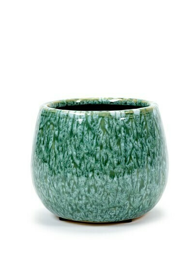POT SEAGRASS GREEN D16,5 H13,5 CM