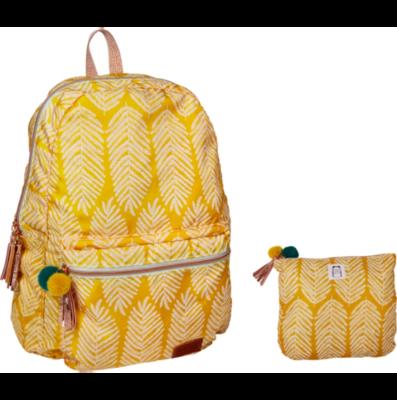 Rucksack Blatt gelb