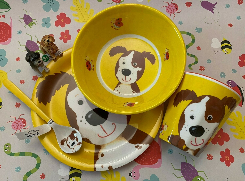 Geschirrset Hund und 2 Schleich-Hunde