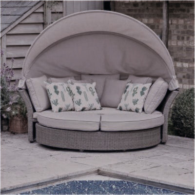 Monaco Stone Daybed (WE NOW ONLY HAVE OUR DISPLAY SETS AVAILABLE IN STORE PLEASE CONTACT EITHER PALMERS ENDERBY OR ULLESTHORPE TO SECURE YOUR PURCHASE)