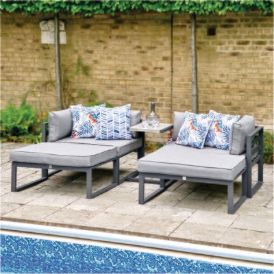 Turin Daybed  (WE NOW ONLY HAVE OUR DISPLAY SETS AVAILABLE IN STORE PLEASE CONTACT EITHER PALMERS ENDERBY OR ULLESTHORPE TO SECURE YOUR PURCHASE)
