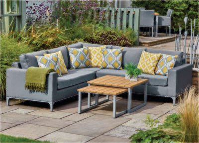 Siena Upholstered Modular Lounge Set with Nested Tables (WE NOW ONLY HAVE OUR DISPLAY SETS AVAILABLE IN STORE PLEASE CONTACT EITHER PALMERS ENDERBY OR ULLESTHORPE TO SECURE YOUR PURCHASE)