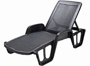 Stackable lounge chair with Rattan effect