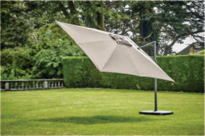 Provence Deluxe 3x3m Square Parasol inc cover & base