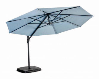 Monaco Free Arm Parasol with LED Lights 3.3m Round Parasol (cover & base included) BUY ONLINE NOW TO SECURE YOUR PURCHASE. THIS PRODUCT WAS IN HIGH DEMAND LAST YEAR. AVAILABLE FOR DELIVERY OF COLLECTI
