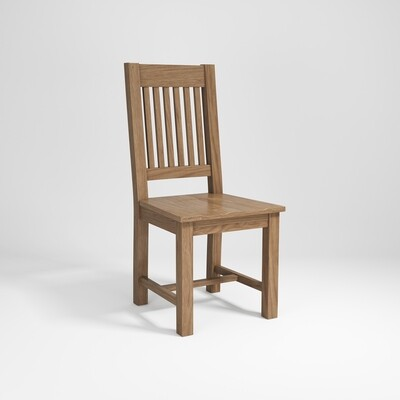 Dining chair slatted back