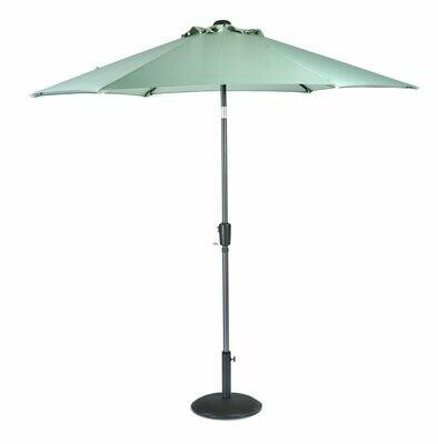 Riviera Sun Shade Old Green (Grey Pole) - 2.5m Parasol