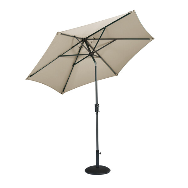 Riviera Parasol Taupe (Bronze) -  2.5m BUY ONLINE NOW TO SECURE YOUR PURCHASE. THIS PRODUCT WAS IN HIGH DEMAND LAST YEAR. AVAILABLE FOR DELIVERY OF COLLECTION FROM APRIL 2021