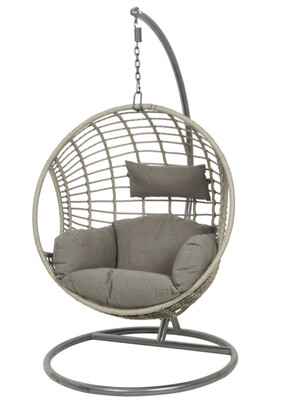 London Hanging Egg Chair - Grey