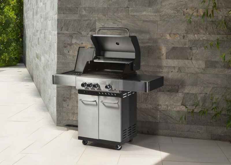 Supremo 2 Series BBQ Three Burner Plus Side Ring In Stainless Steel