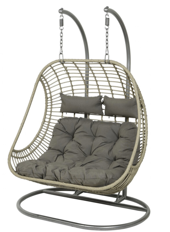 RIGA TWO SEATER SWING SEAT BUY ONLINE NOW TO SECURE YOUR PURCHASE. THIS PRODUCT WAS IN HIGH DEMAND LAST YEAR. AVAILABLE FOR DELIVERY OF COLLECTION FROM APRIL 2021