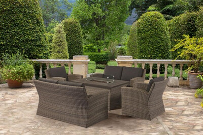 Carina Sofa Rectangular Fire Pit Set (DISPLAY SETS NOW AVAILABLE IN STORE ONLY)