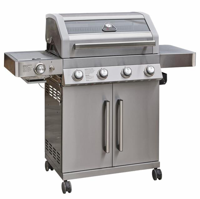 Grillstream Gourmet 4 Burner Hybrid with Steak Shelf - Stainless Steel BUY ONLINE NOW TO SECURE YOUR PURCHASE. AVAILABLE FOR DELIVERY OF COLLECTION FROM MARCH  2021