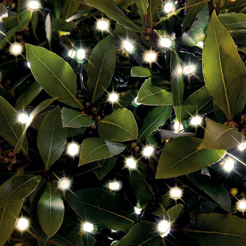 Solar String Lights 200 LED Warm White