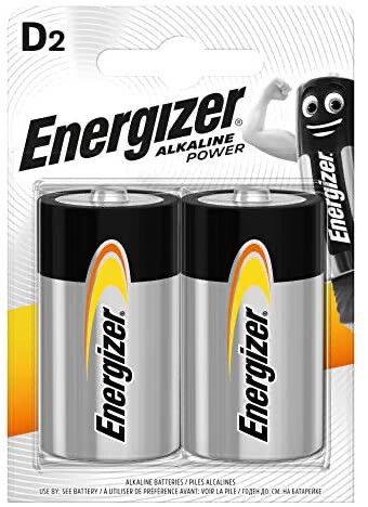 Energizer D Batteries - Twin Pack