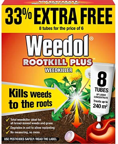 Weedol Rootkill Plus Weedkiller 8 Tubes