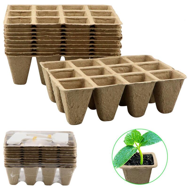 Peat Seedling Tray (2 Pack)